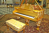 Vintage piano in Tallahassee Automobile Museum Florida