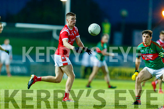Ronan Buckley, East Kerry and Mike Breen, Mid Kerry during the Kerry County Senior Football Championship Final match between East Kerry and Mid Kerry at Austin Stack Park in Tralee on Saturday night.