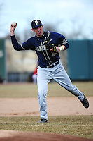 Pittsburgh Panthers infielder Bennette Hill (23) during game against the St. John's Redstorm at Jack Kaiser Stadium on March 22, 2013 in Queens, New York.  Pittsburgh defeated St. John's 12-9.  (AP Photo/Tomasso DeRosa)