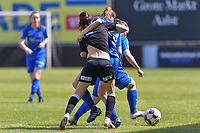 Anke Vanhooren (7) of Eendracht Aalst and Luna Vanhoudt (43) of KRC Genk and Fleur Pauwels (66) of KRC Genk pictured during a female soccer game between Eendracht Aalst and Racing Genk on the 10 th and last matchday of play off 2 of the 2020 - 2021 season of Belgian Scooore Womens Super League , Saturday 29 st of May 2021  in Aalst , Belgium . PHOTO SPORTPIX.BE | SPP | STIJN AUDOOREN
