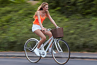 Zoe riding Charge Decanter Bicycle , Sunninghill, Berks