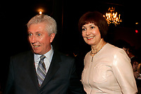 May 20 2005, Montreal (Qc) Canada <br /> <br /> Gilles Duceppe, leader Bloc Qu»b»cois (L) and wife at Independance Plus Que Jamais concert at Metropolis to commemorate the 25th anniversary of the first Referendum on Quebec Independance.<br /> Duceppe may replace Bernard Landry who stepped down as leader of separatist PARTI QUEBECOIS in an un-expected move duting a party meeting this weekend(June 4-5 2005).<br /> Photo : (c) 2005Pierre Roussel