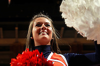 CHARLOTTESVILLE, VA- NOVEMBER 26:  A Virginia Cavalier cheerleaders cheers during the game on November 26, 2011 at the John Paul Jones Arena in Charlottesville, Virginia. Virginia defeated Green Bay 68-42. (Photo by Andrew Shurtleff/Getty Images) *** Local Caption ***