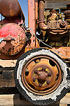 Close-up of old, rusted car