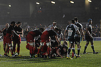Jamie George of Saracens scores a try at the bottom of the maul during the Premiership Rugby match between Saracens and Leicester Tigers - 02/01/2016 - Allianz Park, London<br /> Mandatory Credit: Rob Munro/Stewart Communications