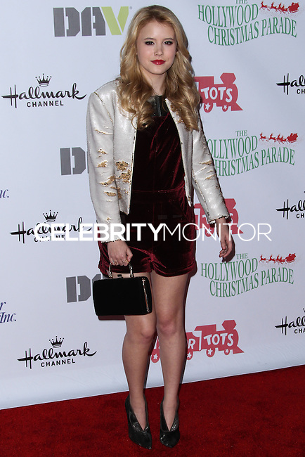 HOLLYWOOD, CA - DECEMBER 01: Taylor Spreitler arriving at the 82nd Annual Hollywood Christmas Parade held at Hollywood Boulevard on December 1, 2013 in Hollywood, California. (Photo by Xavier Collin/Celebrity Monitor)