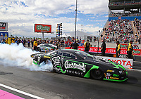 Oct 28, 2016; Las Vegas, NV, USA; NHRA pro stock driver Alex Laughlin during qualifying for the Toyota Nationals at The Strip at Las Vegas Motor Speedway. Mandatory Credit: Mark J. Rebilas-USA TODAY Sports
