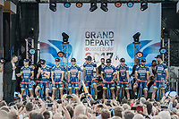 "team Wanty-Groupe Gobert<br /> <br /> ""Le Grand Départ"" <br /> 104th Tour de France 2017 <br /> Team Presentation in Düsseldorf/Germany"