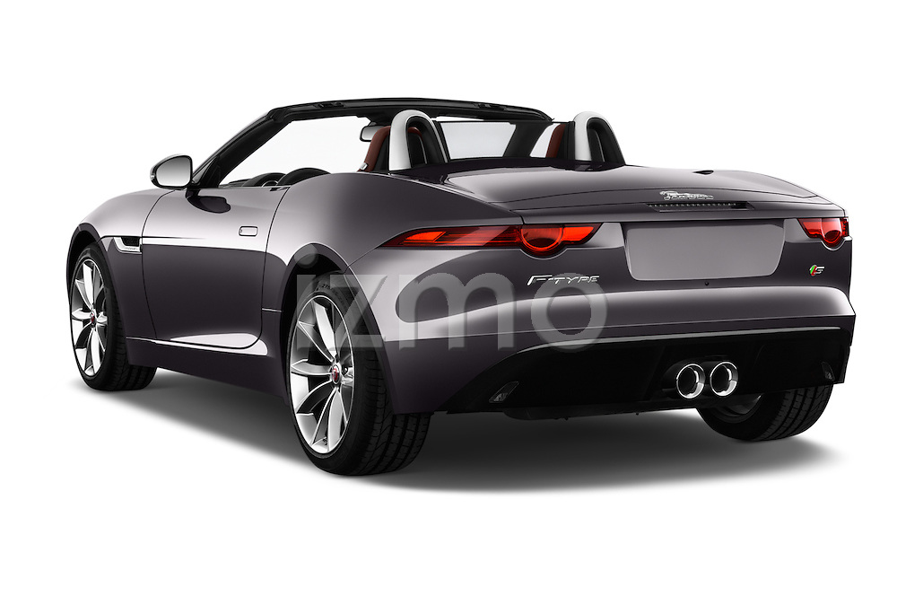 Car pictures of rear three quarter view of 2018 Jaguar F-TYPE S-Convertible 2 Door Convertible Angular Rear