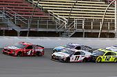 #4: Kevin Harvick, Stewart-Haas Racing, Ford Mustang Busch Light Apple and #11: Denny Hamlin, Joe Gibbs Racing, Toyota Camry FedEx Ground