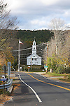 White church, end of the road, New Hampshire.