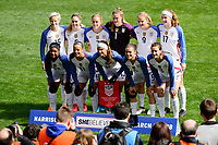 Harrison, NJ - Sunday March 04, 2018: United States Starting Eleven during a 2018 SheBelieves Cup match match between the women's national teams of the United States (USA) and France (FRA) at Red Bull Arena.