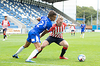 Carl Piergianni of Oldham Athletic holds of Miles Welch-Hayes of Colchester United during Colchester United vs Oldham Athletic, Sky Bet EFL League 2 Football at the JobServe Community Stadium on 3rd October 2020