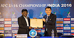 Award presented to the host city Goa in a press conference after AFC U-16 Championship India 2016 Semi-Finals match at Pandit Jawaharlal Nehru Stadium on 29 September 2016, in Goa, India. Photo by Stringer / Lagardere Sports