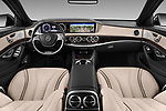 Stock photo of straight dashboard view of 2017 Mercedes Benz S-Class Executive-Line 4 Door Sedan Dashboard