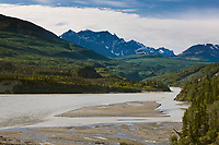 Copper river and the Chugach mountains, southcentral, Alaska.