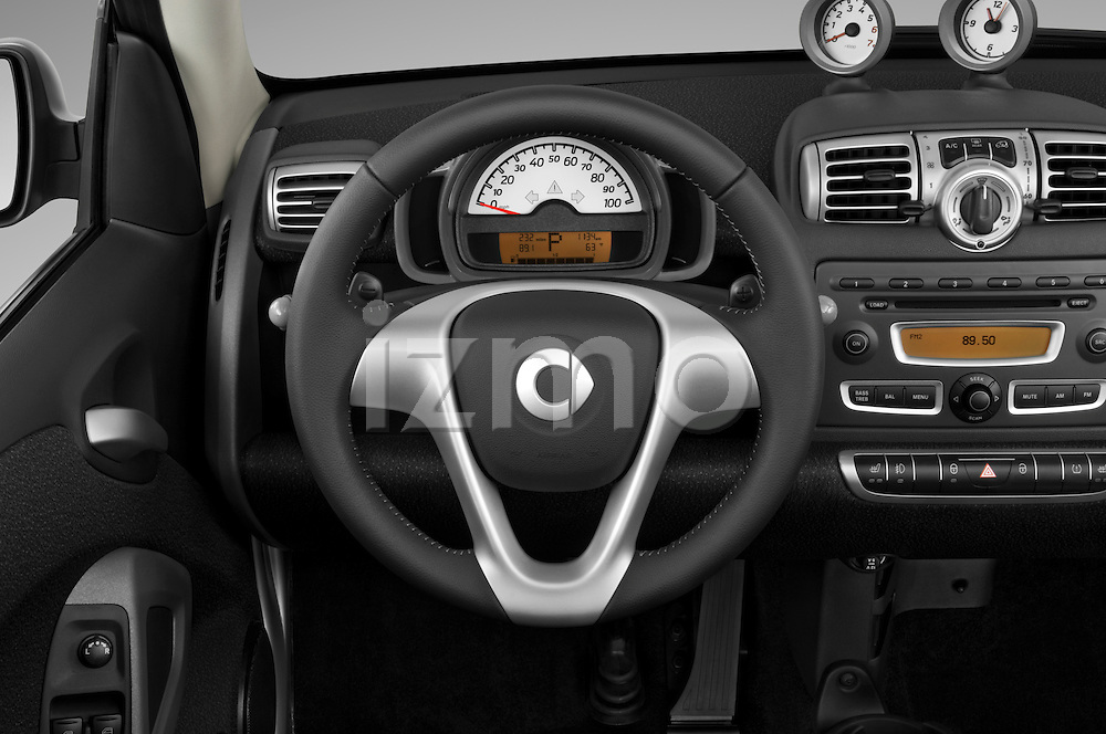 Steering wheel view of a 2009 SmartForTwo Cabriolet