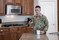 Young American male in Army or Air Force uniform, DoD compliant for advertising, model released
