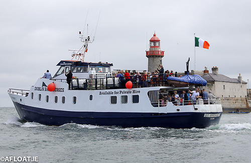Pleasure trips from Dun Laoghaire Harbour operate out into Dublin Bay