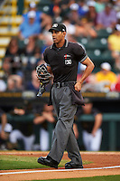 Umpire Ronnie Whiting Jr during a game between the Lakeland Flying Tigers and Bradenton Marauders on April 16, 2016 at McKechnie Field in Bradenton, Florida.  Lakeland defeated Bradenton 7-4.  (Mike Janes/Four Seam Images)