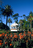 Rotunda with flowers at The Domain Gazebo, Auckland, New Zealand