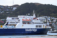 Bluebridge ferry. CentrePort in Wellington, New Zealand on Wednesday, 18 March 2020. Photo: Dave Lintott / lintottphoto.co.nz