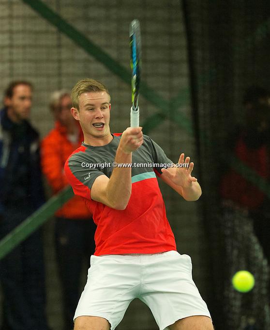 Rotterdam, The Netherlands, March 18, 2016,  TV Victoria, NOJK 14/18 years, Niels van Dam (NED)<br /> Photo: Tennisimages/Henk Koster