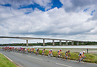 Picture by Alex Broadway/SWpix.com - 09/05/2014 - Cycling - The Friends Life Women's Tour 2014 - Stage 3: Felixstowe to Clacton - The Peloton passes through the Essex countryside.