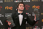 Lucas Vidal pose with Goya award during 30th Goya Awards ceremony in Madrid, Spain. February 06, 2016. (ALTERPHOTOS/Victor Blanco)