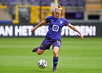 Laura Deloose (14) of Anderlecht pictured during a female soccer game between RSC Anderlecht Dames and Sporting Charleroi  on the second matchday of the 2021 - 2022 season of Belgian Womens Super League , saturday 28 th of August 2021  in Brussels , Belgium . PHOTO SPORTPIX   DAVID CATRY