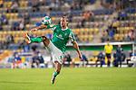 12.09.2020, Ernst-Abbe-Sportfeld, Jena, GER, DFB-Pokal, 1. Runde, FC Carl Zeiss Jena vs SV Werder Bremen<br /> <br /> <br /> Niclas Füllkrug / Fuellkrug (Werder Bremen #11)<br /> Ballannahme Einzelaktion, Ganzkörper / Ganzkoerper  Querformat<br /> <br /> <br /> Foto © nordphoto / Kokenge