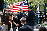 Family and friends of Nye County Pahrump Justice Court Bailiff Gerald Smith participate in the annual Nevada Law Enforcement Officers Memorial ceremony, in Carson City Nev., on Thursday, May 6, 2021. Smith died in the line of duty in January 2021. <br /> Photo by Cathleen Allison