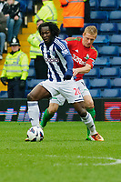 Saturday, 9 March 2013<br /> <br /> Pictured: Romelu Lukaku of West Bromwich Albion is tackled by Gary Monk of Swansea City <br /> <br /> Re: Barclays Premier League West Bromich Albion v Swansea City FC  at the Hawthorns, Birmingham, West Midlands