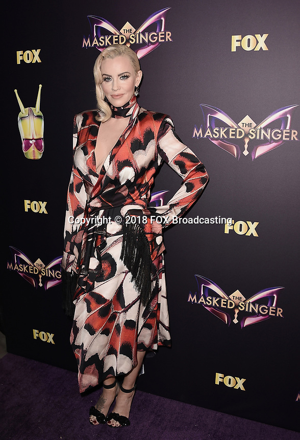WEST HOLLYWOOD, CA - DECEMBER 13: Panelist Jenny McCarthy attends the premiere karaoke event for season one of THE MASKED SINGER on Thursday, Dec.13 at The Peppermint Club in West Hollywood, California. (Photo by Scott Kirkland/FOX/PictureGroup)