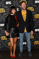 """LOS ANGELES, CA - JANUARY 07: Dawn Porter, Chris O'Dowd arriving at the Los Angeles Screening Of IFC's """"The Spoils Of Babylon"""" held at the Directors Guild Of America on January 7, 2014 in Los Angeles, California. (Photo by Xavier Collin/Celebrity Monitor)"""