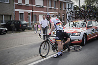 André Greipel (DEU/Lotto-Soudal) with a flat<br /> <br /> 105th Scheldeprijs 2017 (1.HC)<br /> 1 Day Race: Mol › Schoten (BEL/202km)