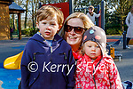 Enjoying the playground in the Killarney National park on Saturday, l to r: Padraig, Ellie and Aine McGillicuddy.
