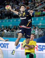 Spain's Aitor Arino during 23rd Men's Handball World Championship preliminary round match.January 15,2013. (ALTERPHOTOS/Acero) /NortePhoto