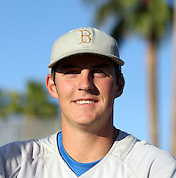 Trevor Bauer#47 of the UCLA Bruins prepares for his start against the Arizona State University Sun Devils at Packard Stadium on May 28, 2011 in Tempe, Arizona. .Photo by:  Bill Mitchell/Four Seam Images.