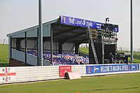 The main stand during Maldon & Tiptree vs Morecambe, Emirates FA Cup Football at the Wallace Binder Ground on 8th November 2020
