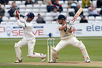 Nick Compton in batting action for Middlesex as James Foster looks on from behind the stumps during Essex CCC vs Middlesex CCC, Specsavers County Championship Division 1 Cricket at The Cloudfm County Ground on 29th June 2017