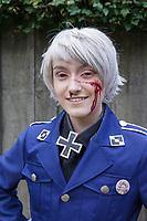 Wounded German Army Soldier, Sakura Con 2017, Seattle, Washington, USA.