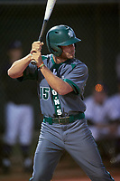 Saint Leo Lions left fielder Lane Stancil (15) at bat during a game against the Northwestern Wildcats on March 4, 2016 at North Charlotte Regional Park in Port Charlotte, Florida.  Saint Leo defeated Northwestern 5-3.  (Mike Janes/Four Seam Images)
