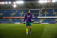 2nd February 2021; The Den, Bermondsey, London, England; English Championship Football, Millwall Football Club versus Norwich City; Przemyslaw Placheta of Norwich City warming up