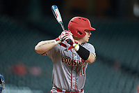 Kole McKinnon (11) of the Louisiana Ragin' Cajuns at bat against the Kentucky Wildcats in game seven of the 2018 Shriners Hospitals for Children College Classic at Minute Maid Park on March 4, 2018 in Houston, Texas.  The Wildcats defeated the Ragin' Cajuns 10-4. (Brian Westerholt/Four Seam Images)