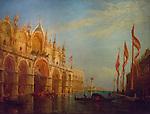 Venice, San Marco Square, flood of 1803 by Felix Ziem (1821-1911)