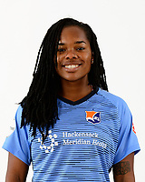 Manalapan, NJ - Tuesday March 13, 2018: Kayla Mills during the 2018 Sky Blue FC Studio Shoot at Sportika.
