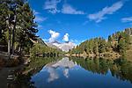 Schweiz, Graubuenden, Gemeinde Berguen, oberhalb von Preda liegt der Palpuognasee (Lai da Palpuogna) auf 1.918 m auf dem Weg zum Albulapass in den Schweizer Alpen   Switzerland, Graubuenden, Community Berguen, Palpuogna Lake above Preda at Albula passroad 1.918 m in the Swiss Alps