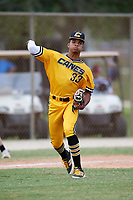 Rece Hinds (33) while playing for Canes National based out of Fredericksburg, Virginia during the WWBA World Championship at the Roger Dean Complex on October 21, 2017 in Jupiter, Florida.  Rece Hinds is a shortstop / third baseman / outfielder from Niceville, Florida who attends Niceville Senior High School.  (Mike Janes/Four Seam Images)