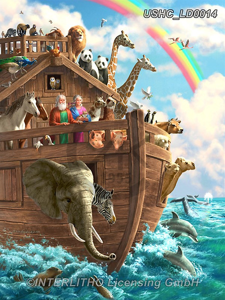 Liz,REALISTIC ANIMALS,Noah's Arch,  REALISTISCHE TIERE, ANIMALES REALISTICOS, LizDillon, paintings+++++,USHCLD0014,#A#, EVERYDAY